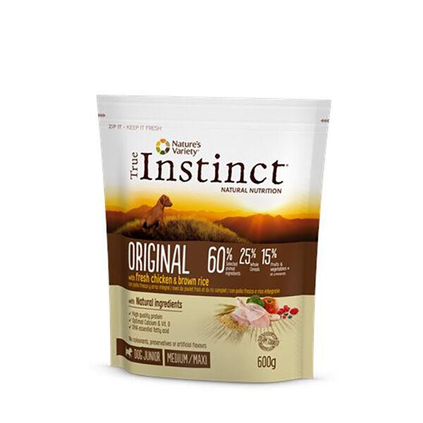 True Instinct Chien Original Junior (2 à 12 mois) Medium/Maxi (+10kg) Poulet 600g