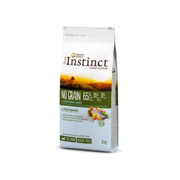 Affinity Petcare True Instinct No Grain Medium Maxi Junior Saumon 12kg