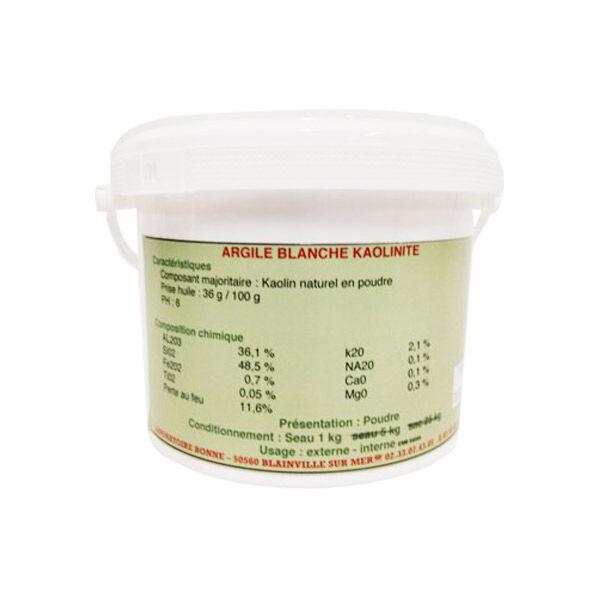 Bonne Argile Kaolinite (Blanche) Cheval poudre orale pot de 1kg