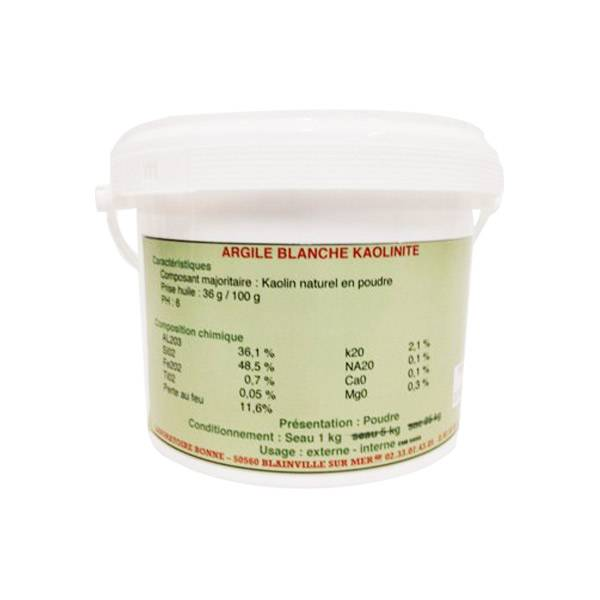 Bonne Argile Kaolinite Blanche Cheval Poudre Orale 5kg
