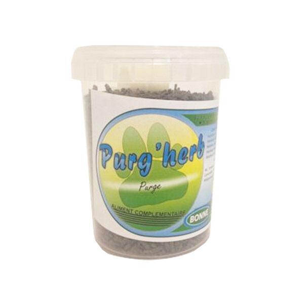 Purg'herb Complément Alimentaire Favorisant l'Expulsion Parasite Interne Chien Chat Granule 200g