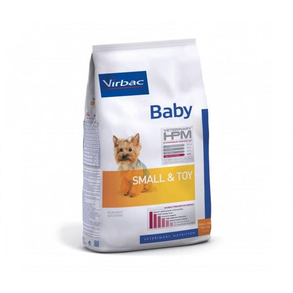 Virbac Veterinary hpm Baby (chiot -10mois) Small et Toy (-10kg) Croquettes 1,5kg