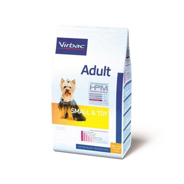 Virbac Veterinary hpm Chien Adulte (+10mois ) Small et Toy (-10kg) Croquettes 1,5kg