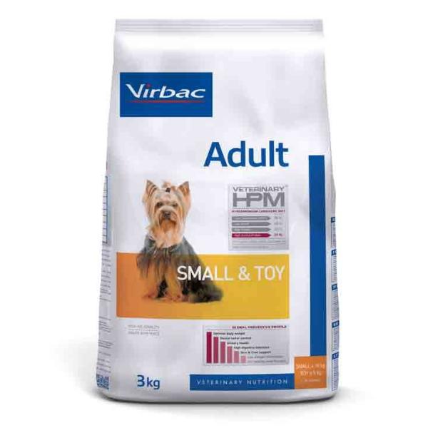 Virbac Veterinary hpm Chien Adulte (+10 mois) Small et Toy (-10kg) Croquettes 3kg