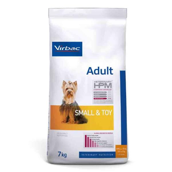 Virbac Veterinary hpm Chien Adulte (+10mois) Small et Toy (-10kg) Croquettes 7kg