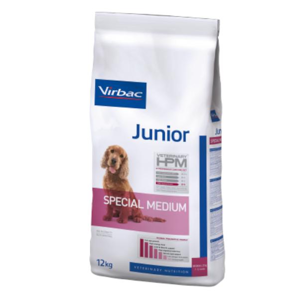 Virbac Veterinary hpm Chien Junior (7 à 12mois Special Medium (11 à 25kg) Croquettes 7kg