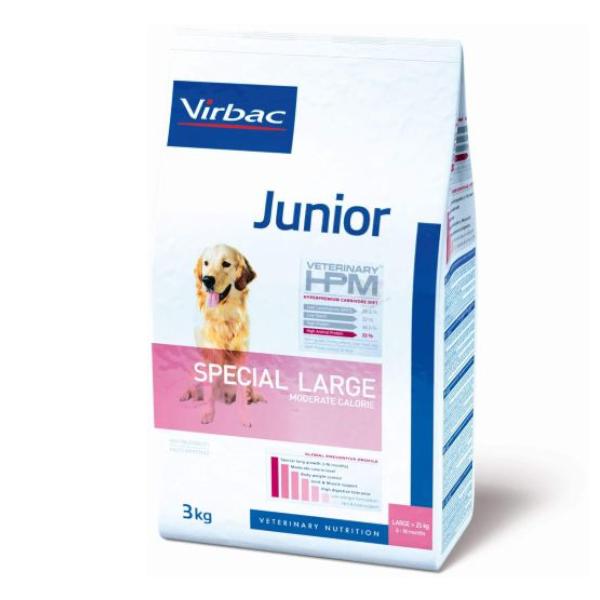 Virbac Veterinary hpm Chien Junior (8 à18mois) Special Large (+25kg) Moderate Calorie Croquettes 3kg