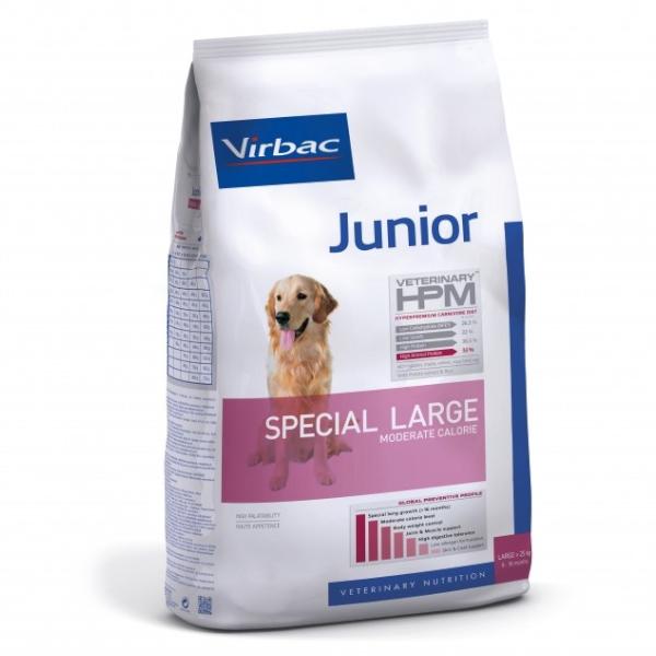 Virbac Veterinary hpm Chien Junior (8 à 18 mois) Special Large (+25kg) Moderate Calorie Croquettes 12kg