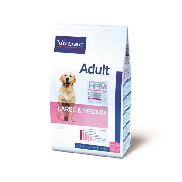 Virbac Veterinary hpm Chien Adulte Medium (+12mois 11 à 25kg) Large (+18mois +25kg) Croquettes 7kg