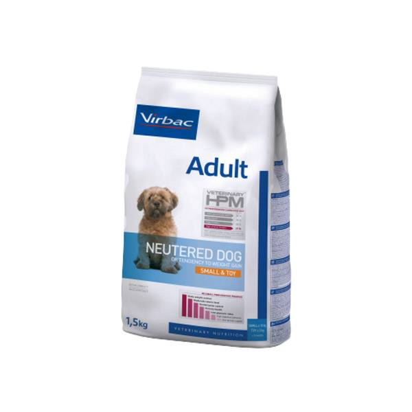 Virbac Veterinary hpm Neutered Chien Adulte (+10 mois) Small & Toy (-10kg) Croquettes 1,5kg