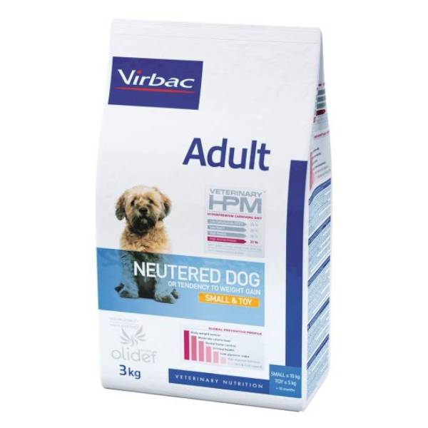 Virbac Veterinary hpm Neutered Chien Adulte (+10mois) Small Et Toy (-10kg ) Croquettes 3kg
