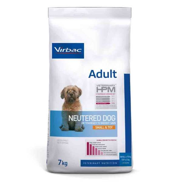 Virbac Veterinary hpm Neutered Chien Adulte (+10mois) Small et Toy (-10kg) Croquettes 7kg