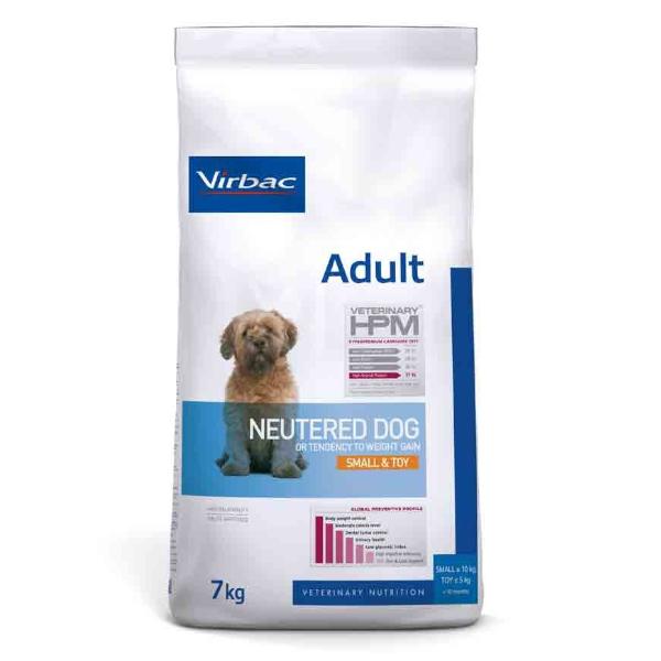 Virbac Veterinary hpm Neutered Chien Adulte (+10mois) Small et Toy (-10kg) Croquettes 7kg