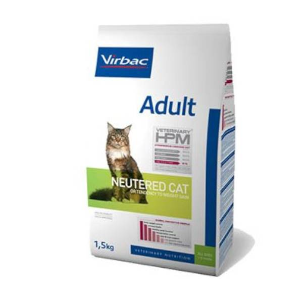 Virbac Veterinary hpm Neutered Chat Adulte (+12mois) Croquettes 1,5kg