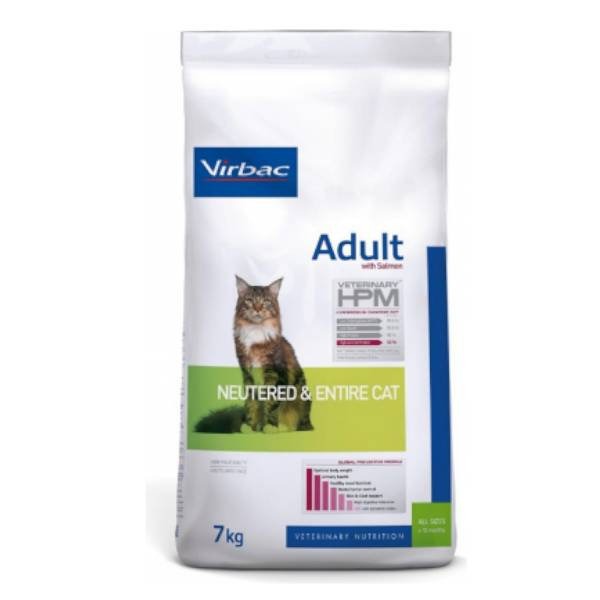 Virbac Veterinary hpm Neutered Chat Adulte (+12mois) Croquettes 7kg