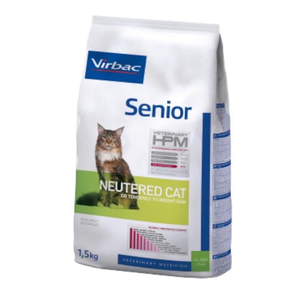 Virbac Veterinary hpm Neutered Chat Senior (+10ans) Croquettes 1,5kg