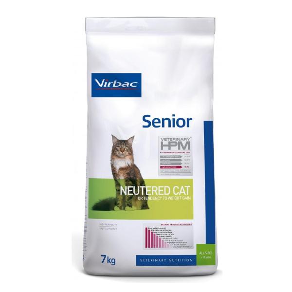 Virbac Veterinary hpm Neutered Chat Senior (+10ans) Croquettes 7kg