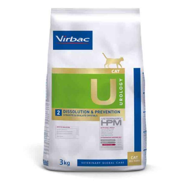 Virbac Veterinary hpm Diet Chat Urology 2 Dissolution Et Prévention Calculs Croquettes 3kg