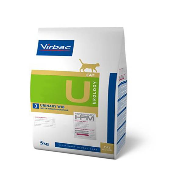 Virbac Veterinary hpm Diet Chat Urology 3 Urinary WIB (Water Intake & Behaviour) Croquettes 3kg