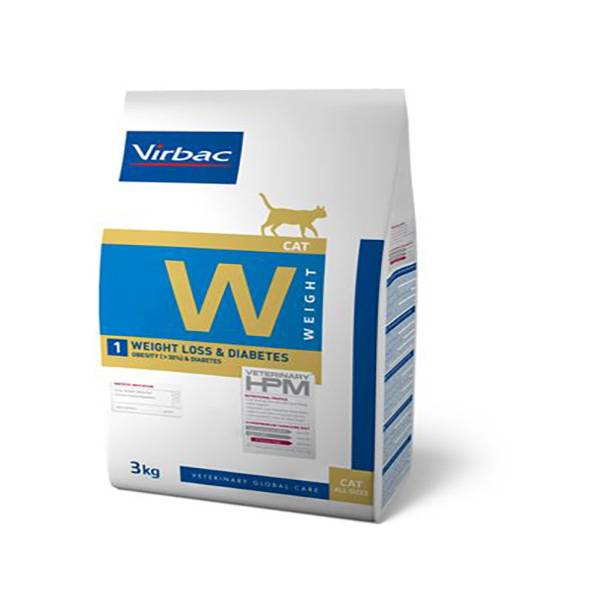 Virbac Veterinary hpm Diet Chat Weight 1 Loss (surpoids 30%) & Diabète Croquettes 1,5kg