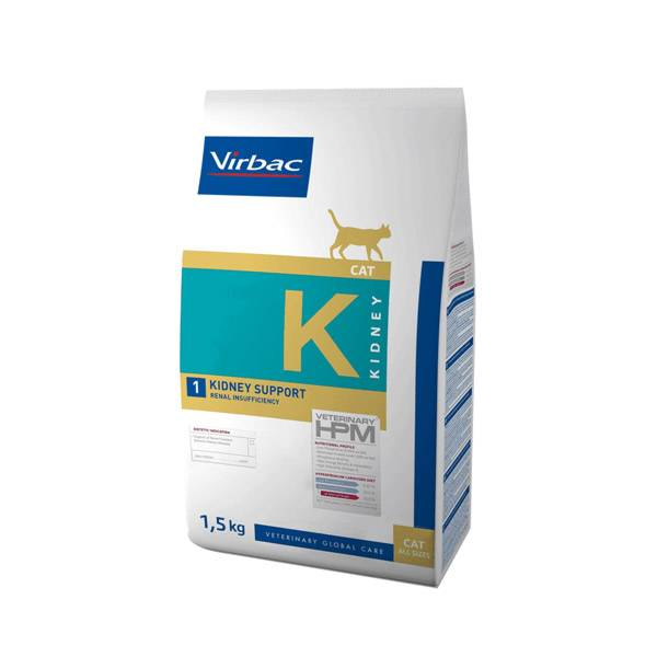 Virbac Veterinary hpm Diet Chat Kidney Support Renal Insufficiency Croquettes 1,5kg