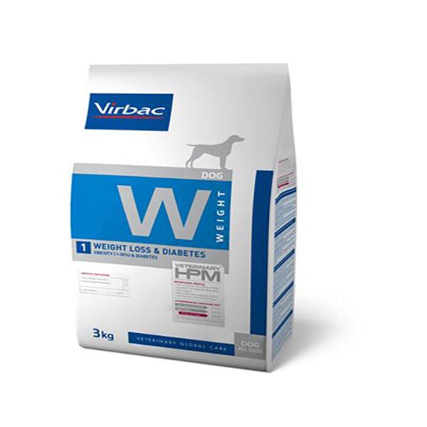 Virbac Veterinary hpm Diet Chien Weight 1 Loss (Surpoids 30%) & Diabète Croquettes 3kg
