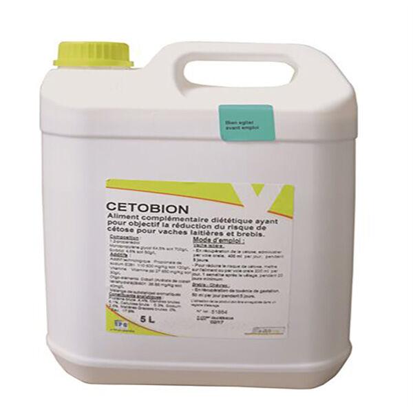 cetobion supplement nutritionnel cetose bovin solution buvable bidon de 5l