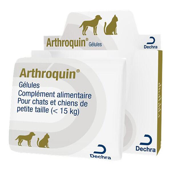 Dechra Arthroquin Complément Alimentaire Arthrose Chien(-25kg) Chat 80 gélules