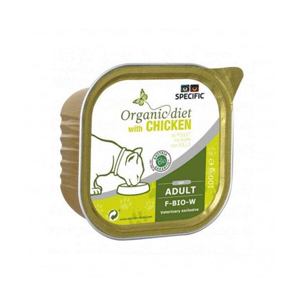 Dechra Specific Chat Organic Diet F-BIO-W Poulet Barquette 100g