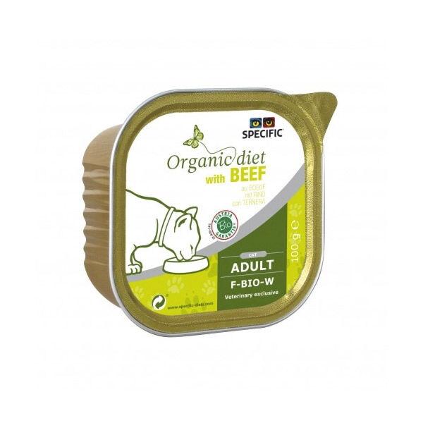 Dechra Specific Chat Organic Diet F-BIO-B Boeuf Barquette 100g