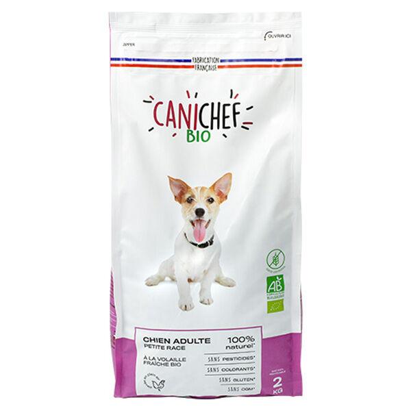 Canichef Croquettes Chien Adulte Petite Race Sans Céréales Bio 2kg