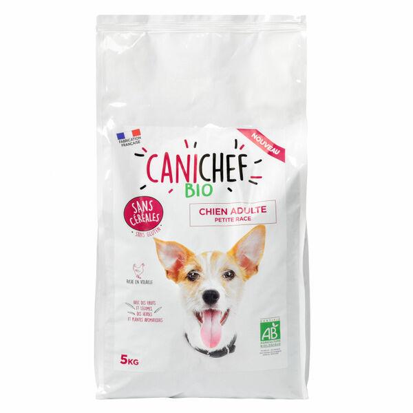 Canichef Croquettes Chien Adulte Petite Race Sans Céréales Bio 5kg
