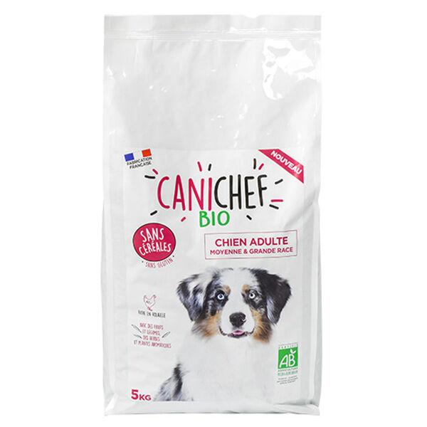 Canichef Croquettes Chien Adulte Moyenne & Grande Race Sans Céréales Bio 5kg