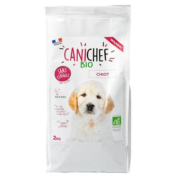 Canichef Croquettes Chiot Sans Céréales Bio 2kg