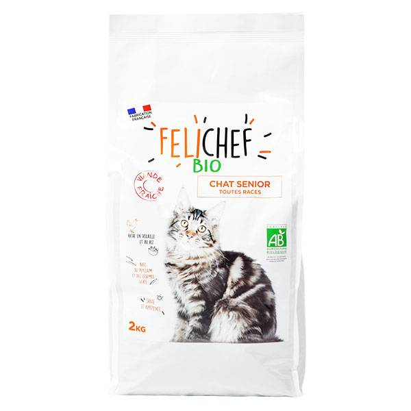 Felichef Croquettes Chat Senior Viande Fraîche Bio 2kg