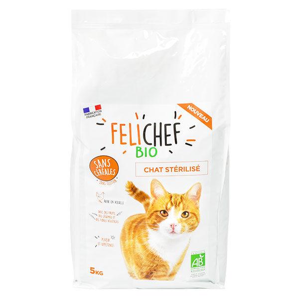 Felichef Croquettes Bio Chat Stérilisé Sans Céréales 5kg