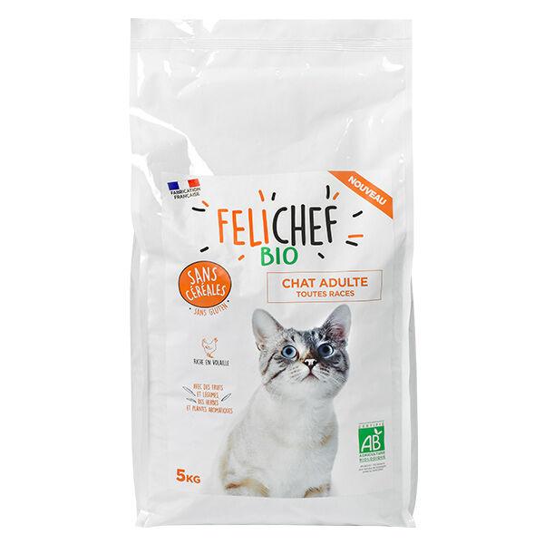 Felichef Croquettes Chat Adulte Toutes Races Sans Céréales Bio 5kg