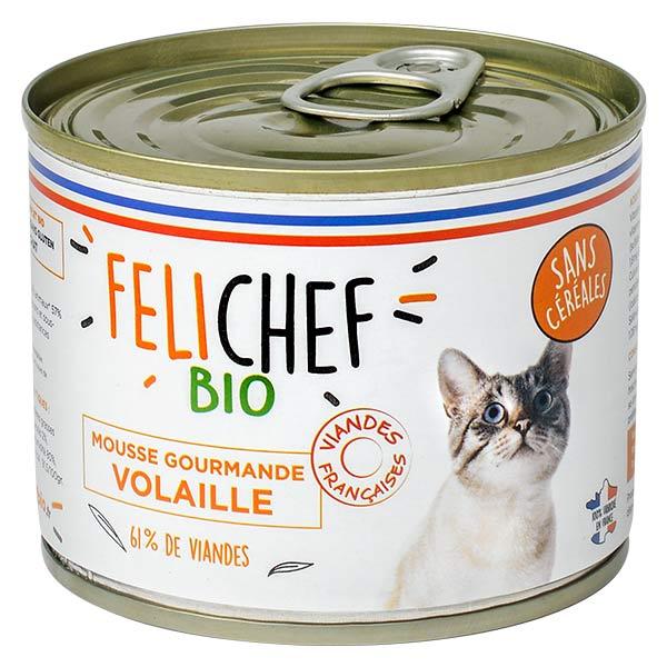 Felichef Mousse Gourmande Volaille Sans Céréales Bio 200g