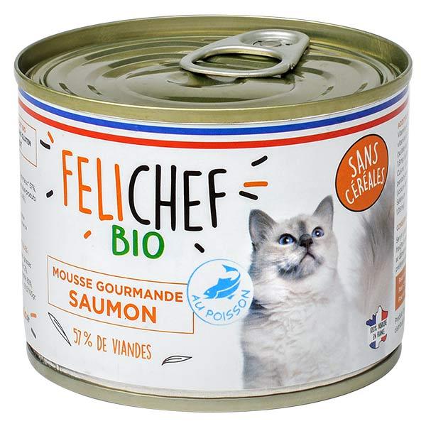 Felichef Mousse Gourmande Saumon Sans Céréales Bio 200g