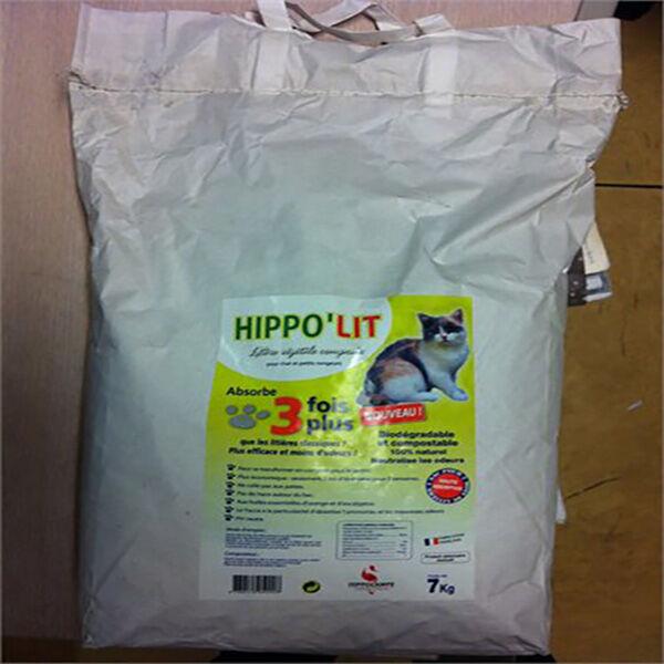 hippo'lit litiere vegetale biodegradable compostable a base de yucca sac de 7kg