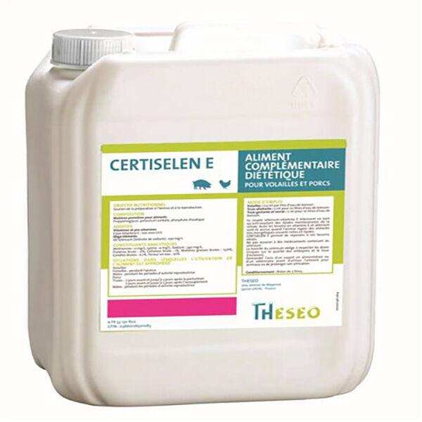 Theseo Certiselen e (vitamine e) Sevrage et Phases Critiques de la Croissance Solution buvable 5L