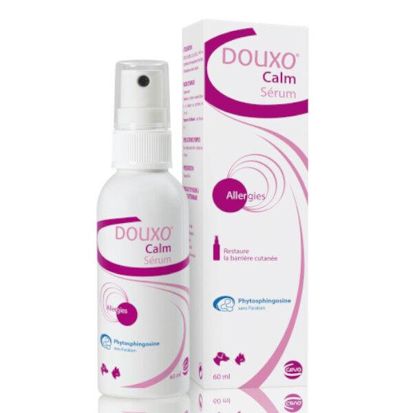 Ceva Douxo Calm Sérum Apaisant Restructurant Cutané Chien Chat gel spray flacon de 60ml Lot de 6