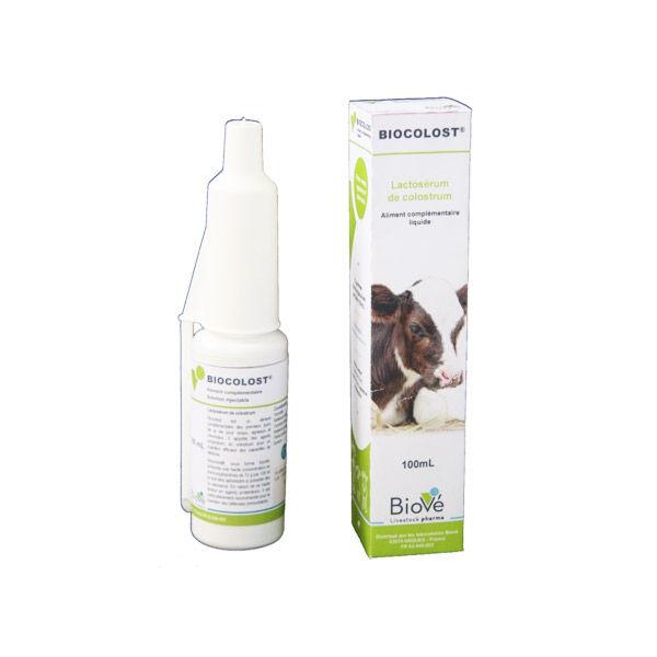 Biové biocolost complement alimentaire pour veau agneau chevreau solution buvable flacon de 100ml
