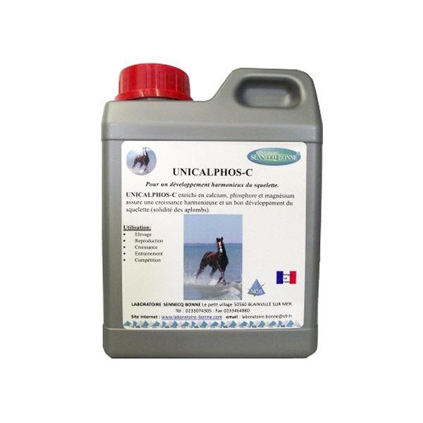 unicalphos-c complement alimentaire croissance cheval solution buvable bidon de 1l