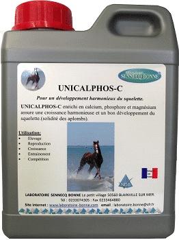 unicalphos-c complement alimentaire croissance cheval solution buvable bidon de 5l