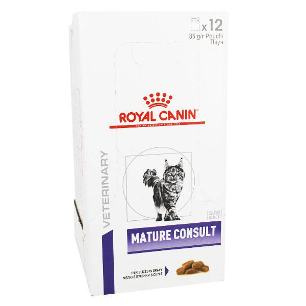 Royal Canin Health Management Chat Mature Consult Aliment Humide 12 sachets