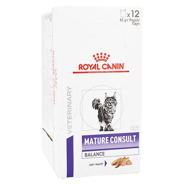 Royal Canin Health Management Chat Mature Consult Balance Aliment Humide 12 x 85g