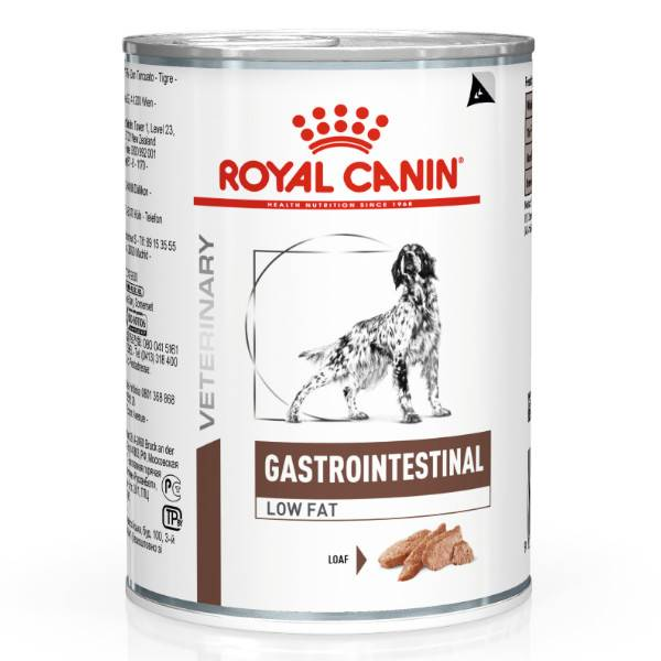 Royal Canin Veterinary Diet Chien Gastro Intestinal Low Fat 12 X 410g