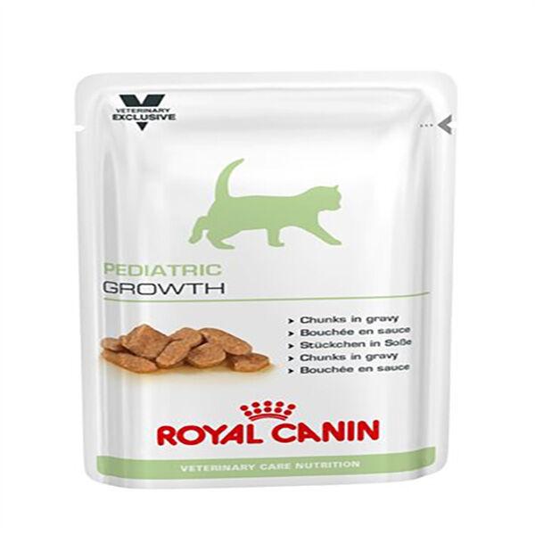 royal canin veterinary care nutrition chat pediatric growth sachet repas bouchee en sauce 100gx12