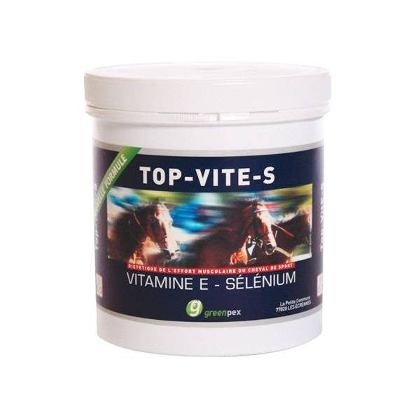 Top-vit e-s (vitamine et selenium) Dietetique de l'Effort Musculaire Cheval Poudre Orale 500g